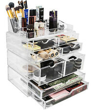 Sorbus Makeup Storage Case Set X-Large Display  Stackable & Detachable Drawers