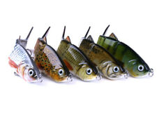 5 x Bass Pike Musky Fake Baits Multi Jointed Fishing Lures Sinking Rattles 12cm