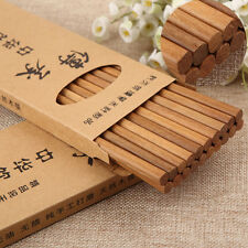 10x Chopstick Reusable wooden bamboo Chinese Japanese chop hair stick stir fry