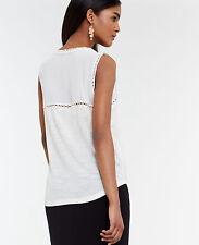 Ann Taylor - Woman's XL (16) Winter White Lace Yoke Tank Shell $49.00 (H)