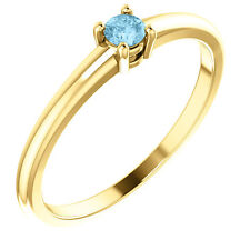 Birthstone Ring 14k Yellow Gold / White Gold / Rose Gold Pick Your Birthstones