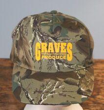 Graves Produce camo hat from Nissun; local interest; fun; unique; velcro closure