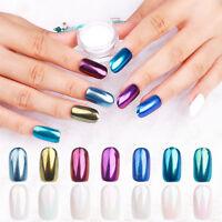 Mirror Powder Set Nail Art Chrome Pigment Dust Shell Glitter Manicure Decor Tips