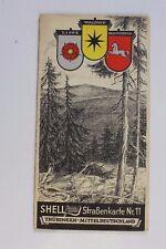 28274 SHELL Straßenkarte Nr. 11 Thüringen Mitteldeutschland Kassel Erfurt 1930