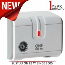 One for All│1 Way Digital Freeview TV/Radio Signal Booster Amplifier│SV9601│Whit