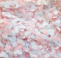 Biodegradable Throwing Confetti - Pink & White Circles Wedding/Baby Shower Mix
