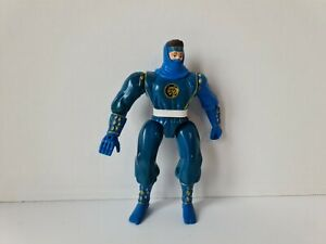 RARE Bandai 1995 Mighty Morphin Power Rangers Blue Ninja Figure