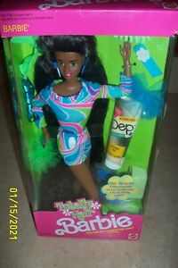 TOTALLY HAIR BARBIE - AFRICAN AMERICAN - NEW IN FACTORY SEALED BOX - 1991