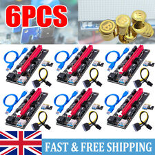 More details for 6pcs ver009s pci-e riser card pcie 1x to 16x usb 3.0 data cable bitcoin mining