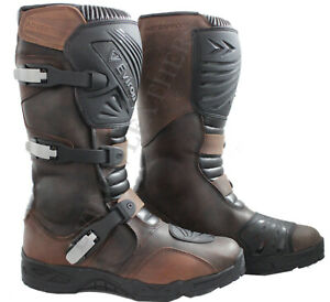 Adventure Motorcycle Motorbike Leather Boot MX Off Road Eviron Boots Waterproof!
