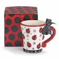 Burton & Burton Lady Bug With Dotted Bow Mug
