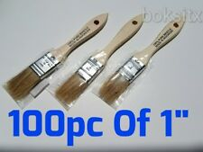 """Lot of 100 1"""" Chip Brushes Brush Paint Touchups"""