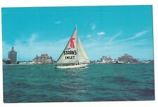 SAILBOAT SIGN Mainsail CAPT STARN'S RESTAURANT INLET Atlantic City NJ Postcard