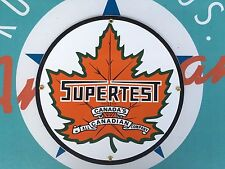 "SUPERTEST ""all canadian company""  QUALITY porcelain coated 18 GAUGE steel SIGN"