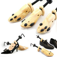 Women Men Unisex Wooden Adjustable 2-way Shoe Stretcher Expander Shaper Tree CA