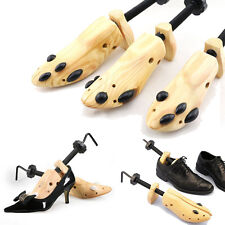S/M/L Women Men Wooden Adjustable 2-way Shoe Stretcher Expander Shaper Tree Bulk
