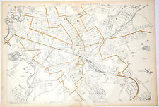 1907 Original Worcester City, Mass,Ma,Highlands,Old,Atl as,Bloomingdale,Union