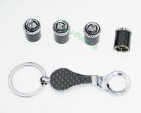 Neue Schlüsselbund Diebstahlschutz Reifen Stem Ventilkappen für Jaguar