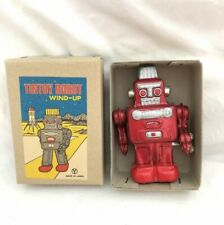 Vintage Y Marked JAPAN Small Red TIN Litho WIND UP ROBOT in Original Box Yone ?