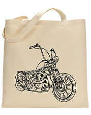 Motorcycle cotton tote bag - Book bag, Shopping bag,Reusable and Washable