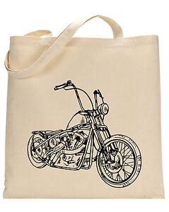 Motorcycle cotton tote bag - Book bag, Shopping bag,Reusable and Washable