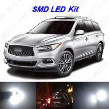 13 x White LED Interior Bulbs + License Plate Lights for 2013-2016 JX35 QX60