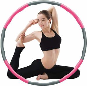 8Teile Hoola Hoops Fitnesstraining Bauchtrainer Hula Hoop Schaumstoff Bauchtrain