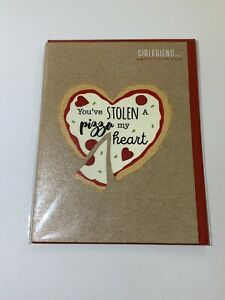 Girlfriend Youve Stolen A Pizza My Heart Valentines Card