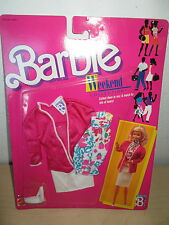 VINTAGE 1988 BARBIE *WEEKEND COLLECTION* BY MATTEL. SEALED NOS.