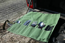 Standard Cutlery Roll 5 Pocket for camping. Australian made.Australian canvas.