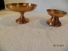 Beautiful Coppercraft Guild Candy Compote and Pillar Candle Holder