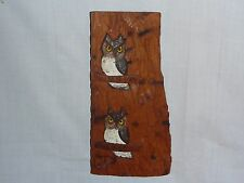 Vintage Carved Owl Wood Wall Plaque Art Wall Hanging by Peter Murphey