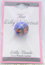 New Old Stock Lilly Collection Lilly Beads Purple Pink Butterfly Beads (3 Pack)