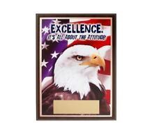 BSA Boy Scout Eagle American Flag Excellence Attitude Motivational Reward Plaque