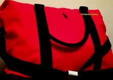 RALPH LAUREN PONY POLO RED DUFFLE/TRAVEL/WEEKEND/SPORT/GYM/HOLDALL/OVERNIGHT BAG