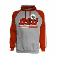 J. America Ohio State Buckeyes Embroidered Sweatshirt Hoodie