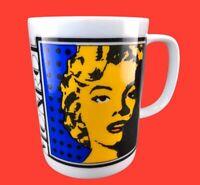 Marilyn Monroe Pop Art Deco 12oz Ceramic Coffee Mug Cup Blue Yellow Red Nice