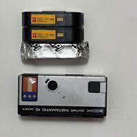1977 Kodak Pocket  Instamatic 10 Camera Point Shoot & 3 Rolls Of 110 Film