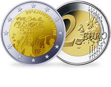 France, Monnaies 30e anniversaire  2 Euros Commémo. 2011  - Fête de la musique