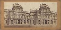 Pavillon Del Louvre Parigi Foto Stereo Vintage Albumina Ca 1865