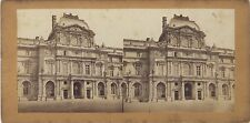 Pavillon du Louvre Paris Photo Stereo Vintage Albumine ca 1865