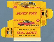 DINKY TOYS 180 : PACKARD CLIPPER box boite repro reprobox refabrication copie