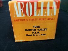 """Vintage Aeolian Player Piano Roll """"Harper Valley P.T.A."""" 1966 J. Lawrence Cook"""