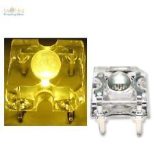 10 Superflux LEDS JAUNE Piranha 3mm jaune Jaun + résistance geel