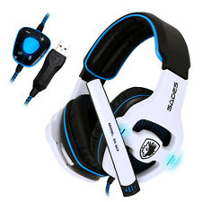 7.1 Surround Stereo Gaming Headphone Pro USB Game Headset With Mic For PC Laptop