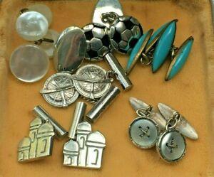 Job Lot of Six Vintage Cufflinks