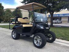 black 2017 GAS Ezgo txt 4 passenger seat golf cart windshield lifted 400cc engin