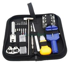 Watch Assembly Opening Link Repair Tools Spring Bar Hammer Kit with Carry Base