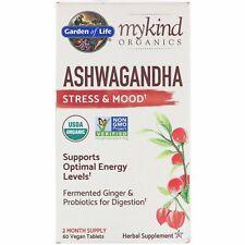 Organic Ashwagandha Stress & Mood by Garden of Life MyKind 60 Vegan Tablets
