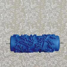 Blue Rubber Roller Wall Decoration Paint Roller Without Hand Grip Leaves Designs